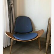 Nordic Shell Chairs Ash Plywood Fabric Living Room Stool Furniture Modern Lounge