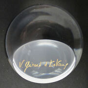 Very Rare Vintage St. Louis Signed Glass Paperweight V. Giscard D'estainge