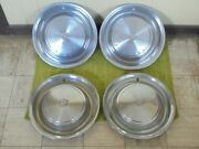 1973 Cadillac Hub Caps 15 Set Of 4 Wheel Cover 73 Caddy Hubcaps