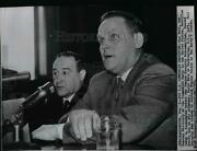 1960 Wire Photo Gus Hall Testifies Before The Senate Security Subcommittee