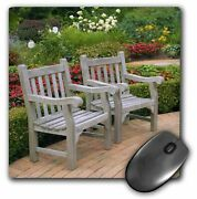 3drose Mp_83512_1 8 X 8-inch Empty Wooden Chairs Along A Garden Path - Na01 R...