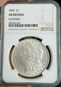 1894 Philly Morgan Silver Dollar - Ngc Au Details - Full Luster - Solid Au58