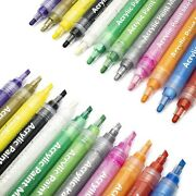 Acrylic Paint Marker Pens -12 Colours Rock Painting Kit For Painting Rocks G...
