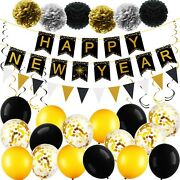 Happy New Year Party Decorations Kit 2021, New Years Eve Party Supplies 2021,...