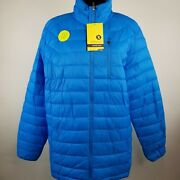 Xersion Menand039s Water Resistant Jacket Versailles Blue Size Small