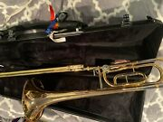 Yamaha Ysl-446g Trombone Pre-owned Decent Condition -minor Scratches Hard Case