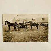 Antique Postcard Melville Fair 1910 Horse And Buggy Photo Post Card