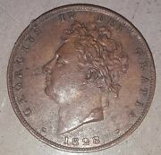 1828 Great Britain - Farthing - Copper - George Iv - Coin