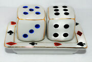 7 Come 11 Ceramic Dice With Tray Occupied Japan Salt And Pepper Set