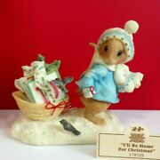 Priscilla's Mouse Tales I'll Be Home For Christmas Enesco Figurine