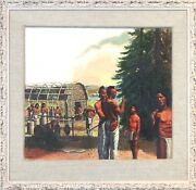 Indian Life Alton Tobey Painting Of Golden Book History Of The United States