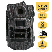 Trail Game Camera 24mp Wildlife Hunting Scouting Cam 110° Pir Night Vision Leds