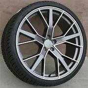 Set4 22x9.5 5x112 +31 Wheels And Tires Pkg Audi Rs6 A7 A8 S8 Sq5 Q7 Q8 Rs Style