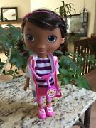 """Disney Doc Mcstuffins 9"""" Doll Toy Doctor White Coat And Stethoscope By Just Play"""