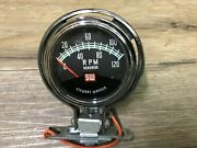 1960and039s 1970and039s Stewart Warner S/w Motorcycle 12000 Rpm Tach Greenline 819889