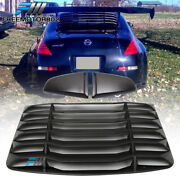 Fits 03-08 Nissan 350z Ikon Style Rear Window Louver And Quarter Side Scoop