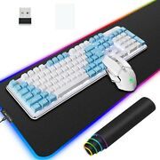 Wireless Gaming Keyboard Mouse Mousepad 3 In 1 Backlit Need To Charge 4800 Ma...