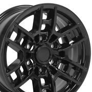 16x7 Gloss Black Rims Set Of 4 Fits Toyota 4runner And Tacoma Trd Pro Wheels