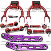 Truhart 8pc Front Rear Camber +toe Andlower Control Arms For Civic Integra Eg Dc