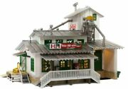 N Scale - Handh Feed Mill, Built, Led Light - Woo-br4949