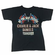 Vintage 80s Charlie And Jack Daniels My Two Best Friends Tennessee 1982 T-shirt