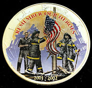 2002 Remember Our Heroes 1 Oz American Silver Eagle .999 • 911 Colorized Eagle