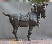 44 Huge China Fengshui Bronze Aniaml Tang Dynasty Horse Horses Statue Sculpture