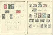 Cambodia Stamp Collection On 14 Scott International Pages, 1952-1974, Jfz