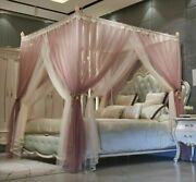 2 Layer Bed Canopy Curtains Tent Princess Style Mosquito Net Bedroom Decorations