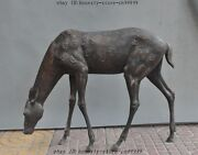 26china Bronze Fengshui Wild Animal Protection Sika Deer Spotted Deer Sculpture