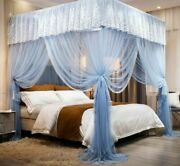 Bed Canopy Lace Court Standing Mosquito Net Princess Home Decoration Luxury Tent