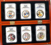 2014 Niue 2 Disney Characters Ngc Pf70 Uc All 6 Coins Set With Box