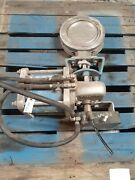 8-150 Neles Jamesbury Butterfly Valve Stainless Air Operated