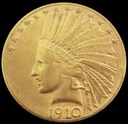 1910 S Gold United States 10 Indian Head Eagle Coin San Francisco Mint
