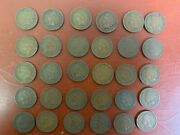 Lot Of 30 1909 Indian Head Cents Very Nice Cond. Some Full Libertyand039s G