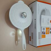 Le Creuset One-handed Pot Flower-shaped Relief White Limited Kitchen From Japan