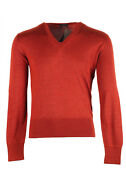 New Tom Ford Copper V Neck Sweater Size 48 / 38r U.s. In Silk Sweater 38