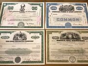 Lot Of 4 Us Industry Common Stocks Shell Oil Dow Chemical Atlas Canceled Collect