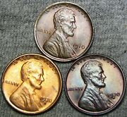 1910 1930-d 1930-s Lincoln Cent Wheat Penny ---- Gem Bu++ Condition Lot J361