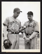 Pitching Phenoms Fantastic 1937 Bob Feller And Carl Hubbell Detailed Press Photo
