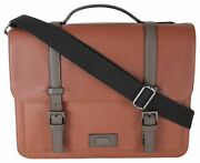 Ted Baker London Menand039s Advntr Textured Pu Satchel Tan O/s