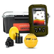 Lucky Wireless Handheld Fish Finders Boat Wired Transducer Fishing Finder Sen...