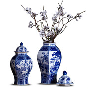 Chinese Classical Antique Handmade Blue And White Hexagon Porcelain Ginger Jar H
