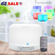 500ml Led Ultrasonic Humidifier Essential Oil Diffuser Aromatherapy Fresh Air Us