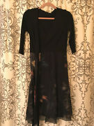 Nwt Seraphine Black Floral Wrap Maternity And Nursing Dress, Size 4
