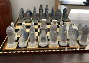 Lladro Porcelain Chess Set Perfect Condition 4833 Board Included