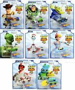 Hot Wheels Toy Story 4 - Complete Set Of 8 Collectible Character Cars - Woody...
