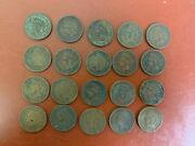 Lot Of 20 1909 Indian Head Cent/pennies With Issues
