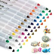 25 Acrylic Paint Pens For Rock Painting Kit Marker Pens For Glass Wood Pla...