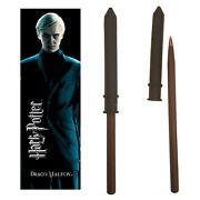 The Noble Collection Draco Malfoy Wand Pen And Bookmark